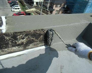 防水施工中:仮防水機能付きカチオン