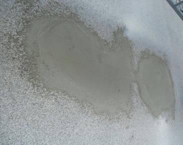 外壁施工中:モルタル爆裂部分樹脂モルタル補修